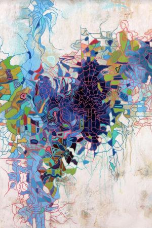 "Seduction III 2014 acrylic on canvas 30x24"""