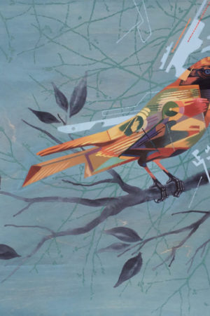 "Automaton #7 2015 acrylic on birch panel 24x24"" • SOLD"