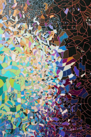 "Black Ash  2015 acrylic on canvas 48x30"""
