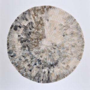 "Sky Oak 2015 54x54"" framed silk and pigment on linen • SOLD"