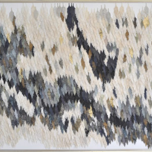 """Living Wall 2017 41x53"""" framed silk and pigment on linen • SOLD"""