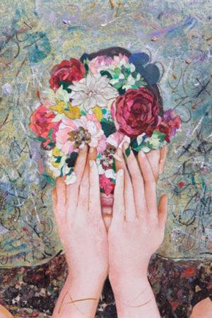 """""""Floral Mind #27"""" 2017  36x34"""" • SOLD"""