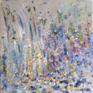 """Glisten 2016 oils & metal on canvas 12x12"""" • SOLD"""