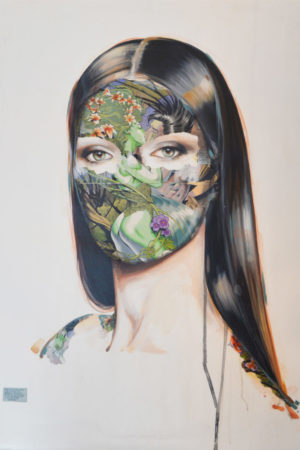 Ivy_Oil and Paper On Canvas_30x24