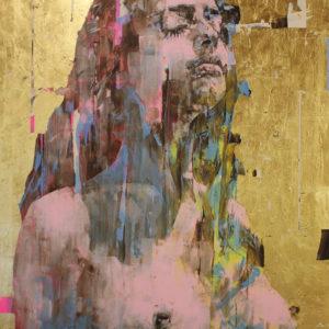 "Aurora 55x72"" oil, tempera, gold leaf on canvas, 2019 • SOLD"