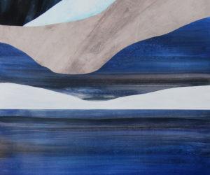 """Winter Shadows"" 2018, Acrylic, 60x30"""