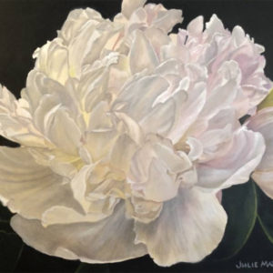 "White Peony, 30""x24"" Acrylic on canvas"