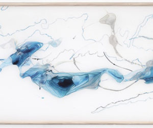 """Shift 1,"" watercolor on mylar, 24""x65"""