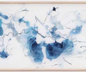 """Shift 3,"" watercolor on mylar, 24""x65"""
