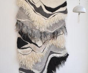 """Transverse"" felted wool, 80""x43"""