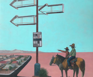 """Western Terminus"" 2020, acrylic on panel, 20""x16"" • SOLD"