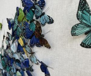 Detail, 'Untitled (Blue Butterflies)'