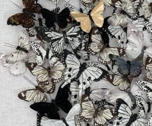 Detail, 'Untitled (Neutral Butterflies)'