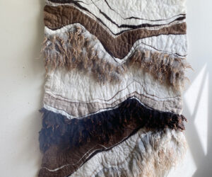 """""""Duality"""" felted wool, 60""""x43"""""""