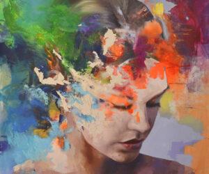 """Sublimation"" 2021. Oil on canvas, 60"" x 60"""