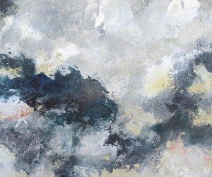 """""""Estuaries"""" Mixed media on polyester canvas, 35""""x35"""", 2021"""