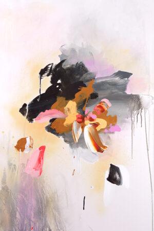 """""""Portrait de Genre V,"""" 2017. Acrylic, spray paint, India ink on canvas, 30""""x40"""""""