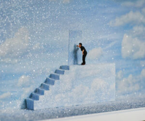 """""""'The Truman Show' based on the 1998 film by Peter Weir,"""" Mixed Media • SOLD"""